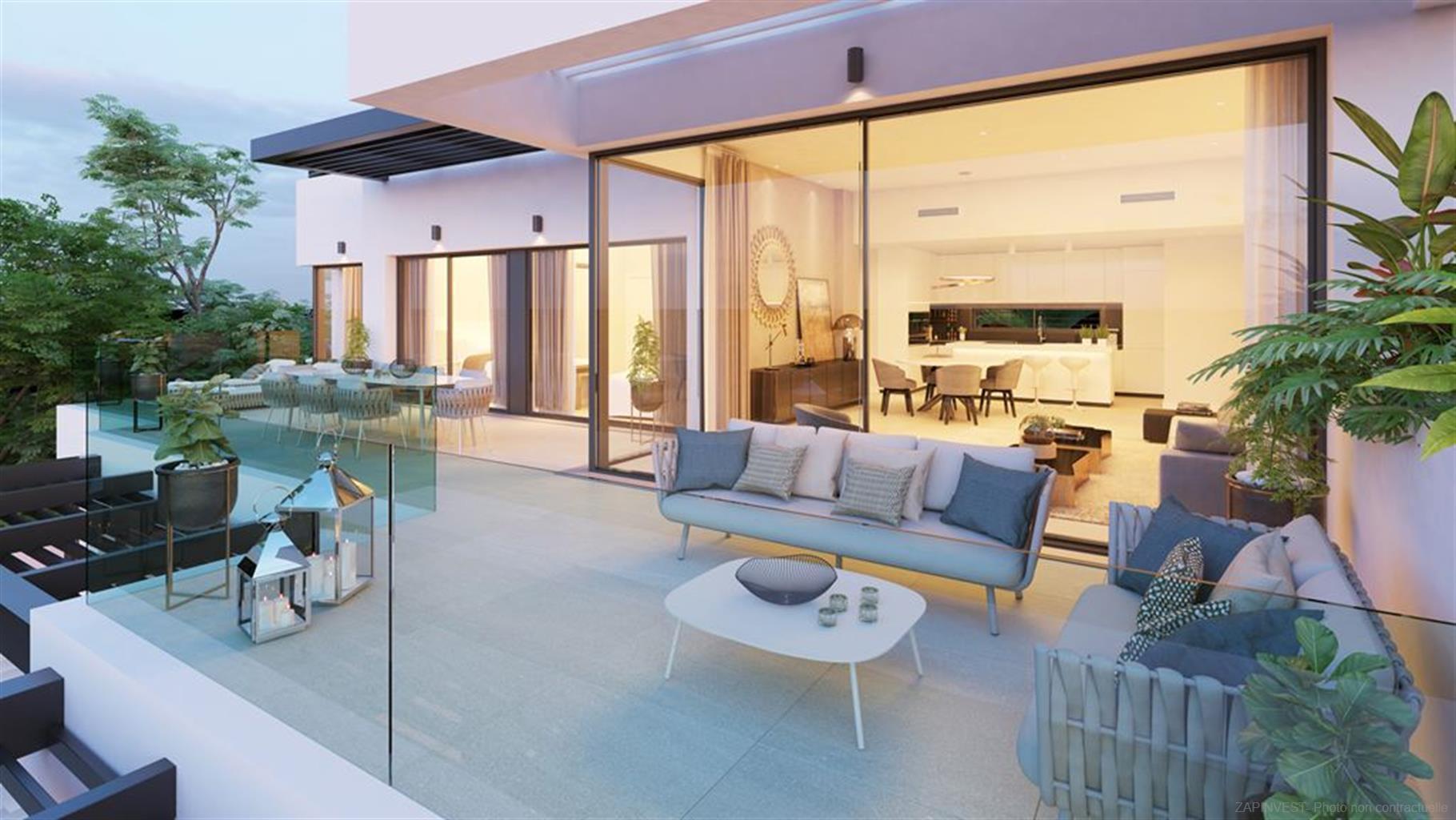 Nieuw boetiekresidentie in Benahavis met twee, drie en vier slaapkamers met een prachtig zicht op zee.