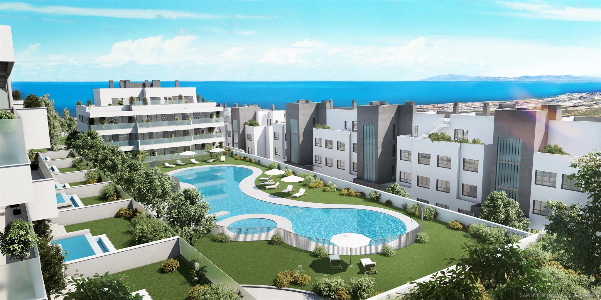 Nieuw project in het hart van Mijas, van twee tot vier slaapkamers, parkeerplaats en kelder, gemeenschappelijk zwembad, spa en fitnessruimte. Slechts 40 meter van supermarkten en sportcentra, 400 meter van een golfbaan en 900 meter van het strand.